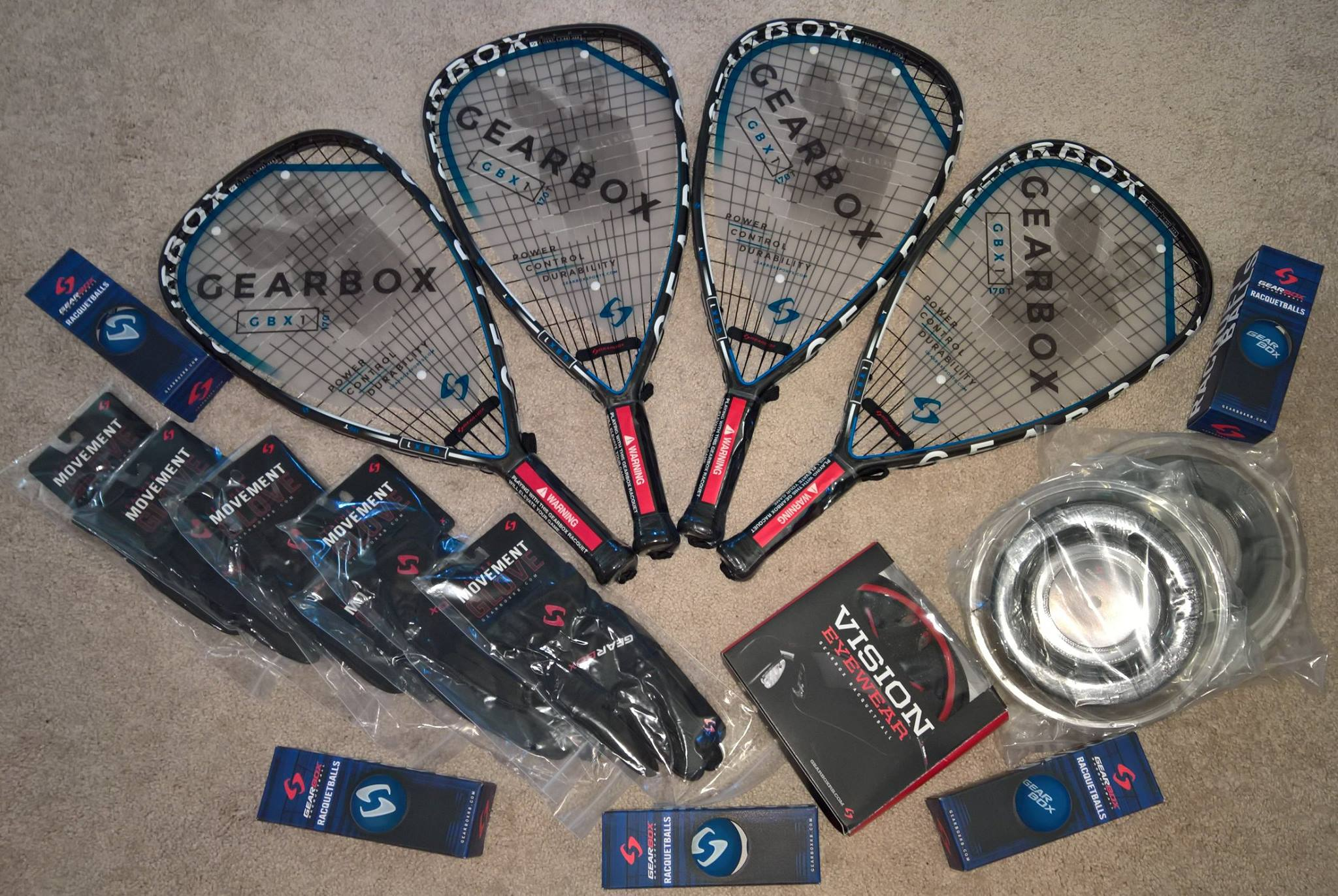 Team Gearbox Racquetball Package Unboxed